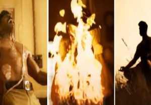 రామ్ చరణ్ ఫస్ట్ లుక్ వీడియో...  గూస్ బంప్స్ !!