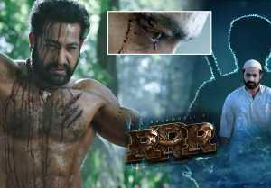 #RamaRajuForBheem Teaser గర్జించిన 'కొమురం భీమ్' ..  రాతి కండలు, రక్తపు బొట్టు.... విశ్వ రూపం.....!!