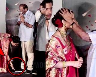 Manikarnika Trailer Launch  : Kangana Ranuat Touches Vijayendra Prasad's Foot