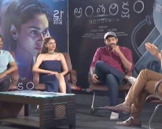 Antariksham Movie Team Interview  Varun Tej  Adithi Rao Hydari  Krish