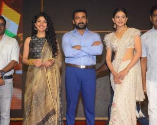 NGK Pre Release Event  Suriya  Rakul Preet Singh  Sai Pallavi