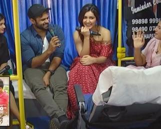Sai Dharam Tej, Raashi Khanna Chit Chat In Prathi Roju Pandage Team Bus Tour