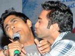 Hero Navdeep Kisses Siddharth At Oh My Friend 111111 Aid