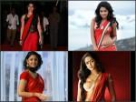 Hot Actresses Red Saree