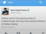Ram Gopal Varma Kills Balachander On Twitter