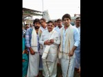 Allu Aravind His Son Allu Sirish At Tirumala