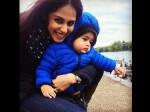 New Pictures Genelia D Souza With Baby Riaan On His 1st Bir