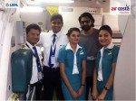 Prabhas Photo With Air Costa Captains