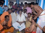 Ram Charan Performed Special Pooja On Behalf Chiranjeevi Birthday