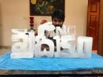 Ram Charan Shared Khaidi No150 Ice Sculpture Pic
