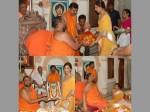 Ram Charan S Wife Upasan Kamineni Washes 800 Year Old Temple