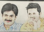 Pawan Kalyan Nitin Painting Photo Goes Viral Internet