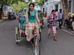 When Rakul Preet Rides Cycle Rickshaw