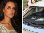 Neha Dhupia Meets With An Accident Chandigarh