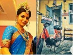 Samantha Moped Ride Savithri Bio Pic Mahanati