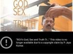 Jayakumar Youtube Has Taken Down Rgv S Gst Based On My Copyright