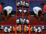 Sai Dharam Tej Touches Fan S Feet
