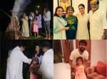 Aishwarya Rai Bachchan Aaradhya Bachchan Celebrate Holi With