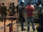 Ram Charan Ntr Snapped At Airport