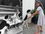 Sitara Cute Poses With Her Pet