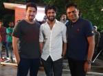 Vijay Devarakonda Visits Maharshi Movie Sets