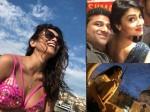 Shriya Saran Hot Pink Bikini