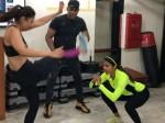 Rakul Preet Pooja Hegde Bond Over Workout Session