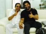 Allu Arjun Meets Brahmanandam After Surgery