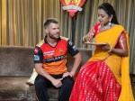 Anchor Suma Kanakala With Srh Player David Warner