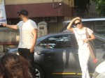 Arjun Kapoor And Malaika Arora Were Spotted Stepping Out Of The Hospital From The Entrance