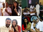 Kollywood Celebs Rajini Kanal Suriya Karthi Jyothika Cast Their Vote