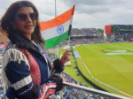 Actress Lakshmi Manchu At Ind Vs Pak Match