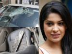 Actress Archana Kavi Escapes From Road Accident