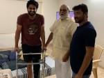 Raghavendra Rao And B V S Ravi Met Naga Shaurya In His Home