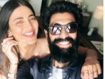 Shruti Haasan Chills Out With Rana Daggubati And Prakash