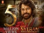 Megastar Chiranjeevi S Sye Raa Trailer Creating Records