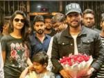 Allu Arjun With Family Watching Sye Raa In Amb