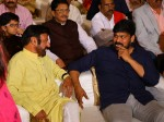 Chiranjeevi Balakrishna And Venkatesh Attends Kodi Ramakrishna Youngest Daughters Engagement