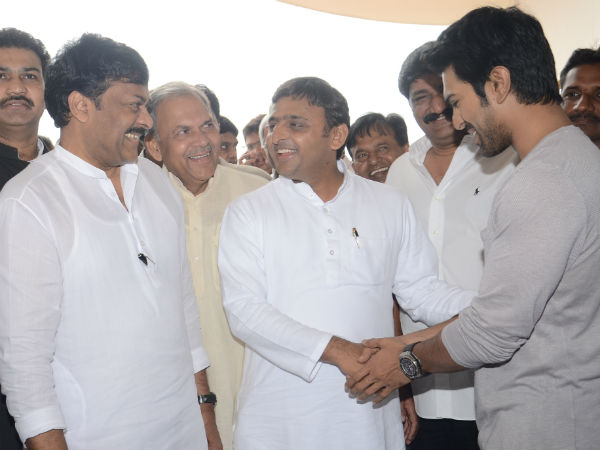 UP CM meets Chiranjeevi ,Ram Charan!