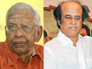 Late Nagesh seen with Rajini