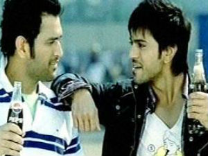 Trivikram directs Ram Charan and Dhoni For Pepsi Ad