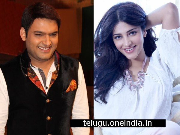 Shruti Hassan To Record A Duet Song With Kapil Sharma