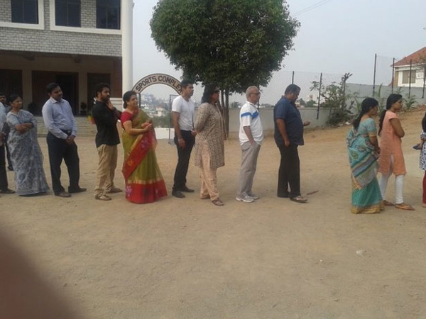 Jr NTR stands in queue to VOTE!