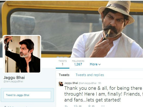 Jagapathi Babu is now on Twitter