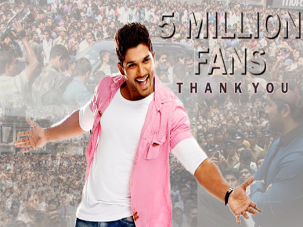 Allu Arjun's special video thanking fans for 5 Million Likes