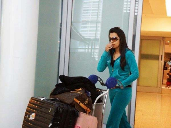 Actress Trisha checked up by Chennai Airport Police