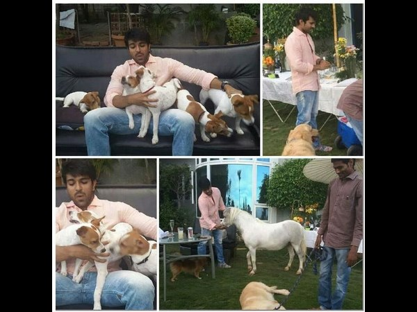 Ram Charan with Pets(Photo)