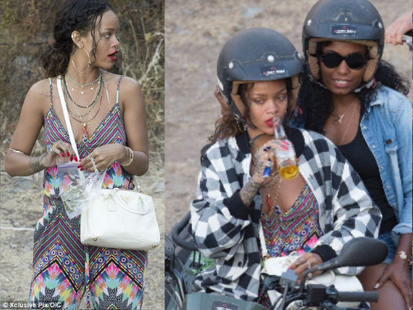Rihanna's Wild France Holiday: Holding Weed, Drinking Beer!