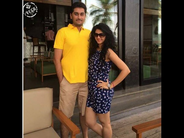 Kamna Jethmalani enjoying with husband