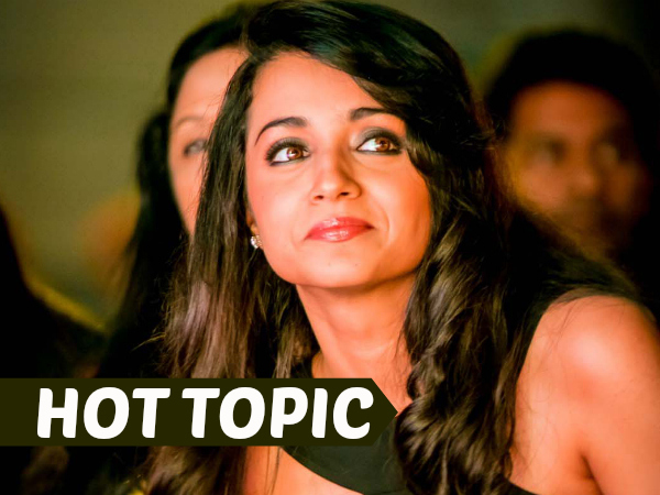 At last Trisha tweets about Breakup